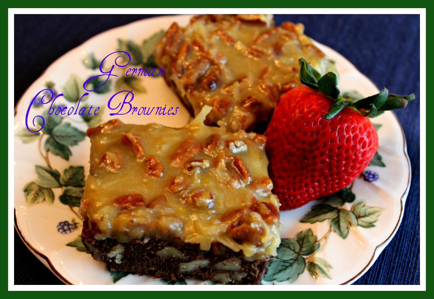 Sweet Tea And Cornbread German Chocolate Brownies