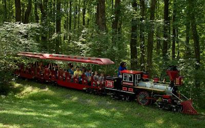 The miniature train at Wheaton Regional Park