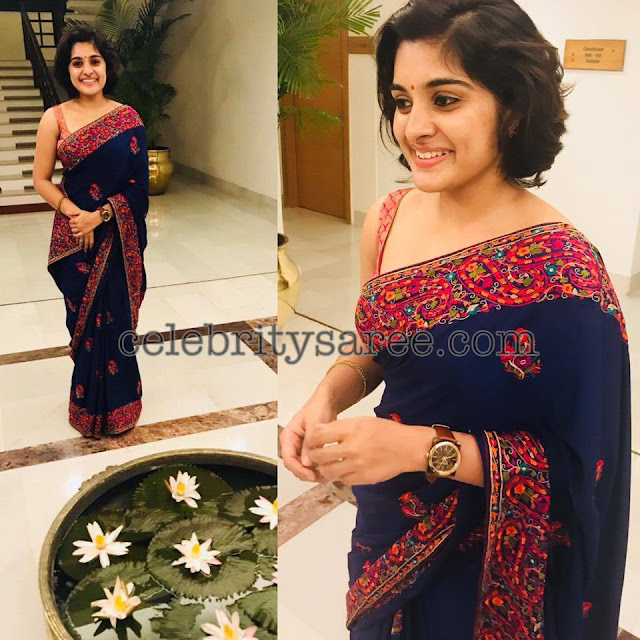 Nivetha-thomas-Silk-saris2