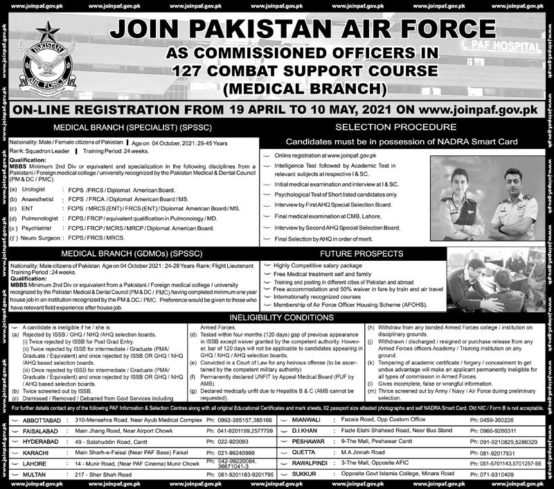 PAF Jobs 2021 Join Pakistan Air Force As Commission Officer