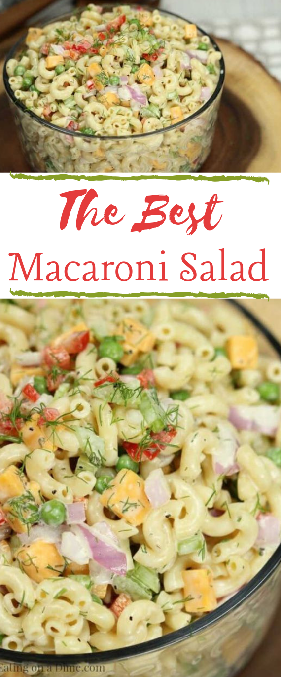 EASY MACARONI SALAD RECIPE #healthy #recipes #easy #salad #diet