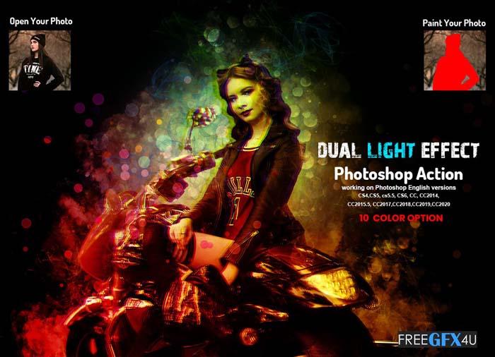 Dual Light Effect Photoshop Action