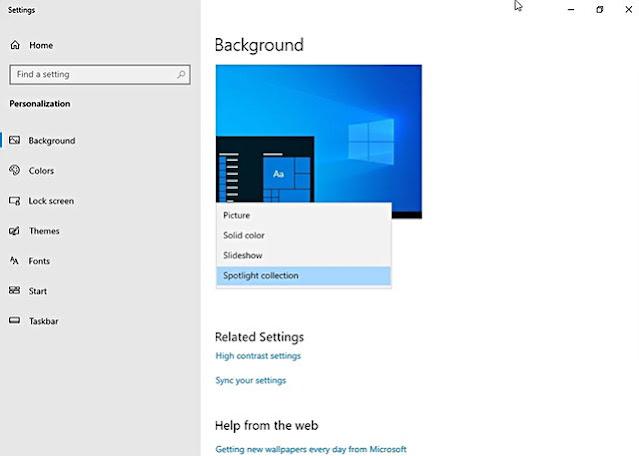 Spotlight isimli bu özellik ise tek bir arka planla yetinmek istemeyen kullanıcıların işlerini kolaylaştıracak gibi görünüyor. Kullanıcılar, bu özelliği kullanarak Microsoft Bing aracılığıyla sunulan slayt haldeki arka planları kullanabilecekler.