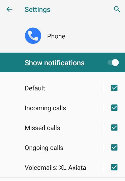 Cek Pengaturan Notifikasi Telepon