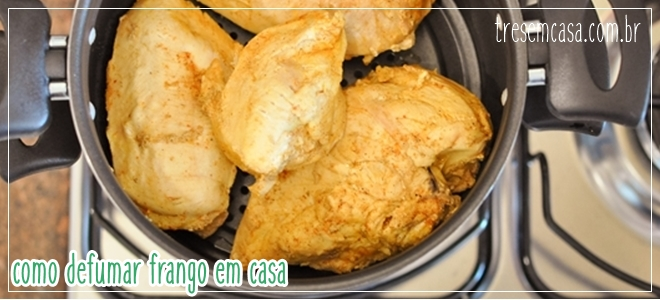 como defumar frango no fogão a gás