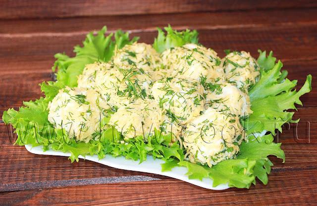 рецепт куриных шариков с сыром и чесноком