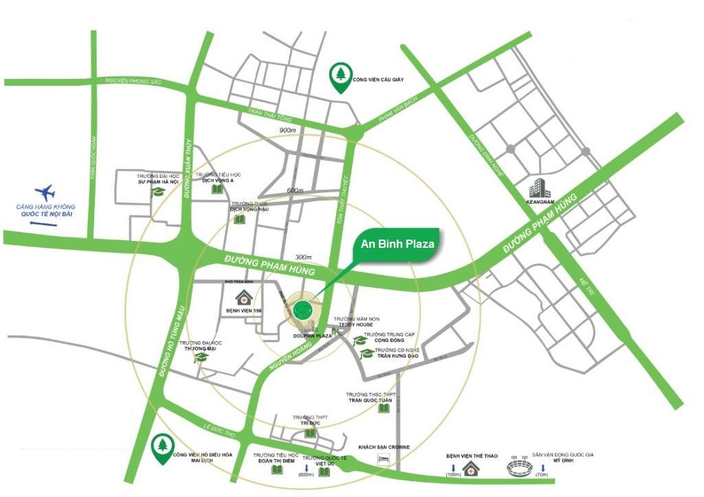 Vị trí dự án An Bình Plaza