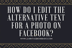 How do I edit the alternative text for a photo on Facebook?
