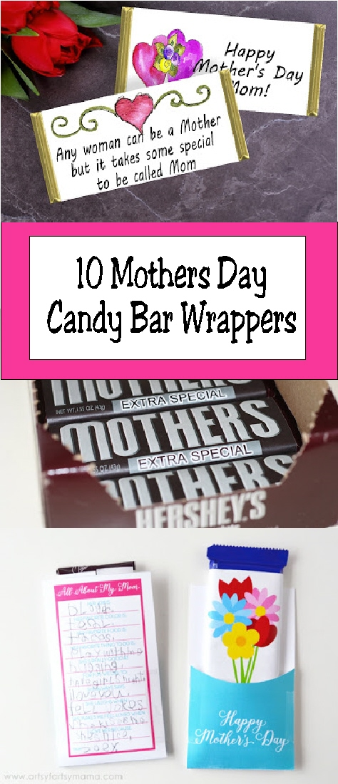 Printable Mothers Day Candy Bar Wrappers | Everyday Parties
