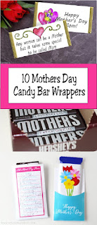 Click here to find 10 free printable candy bar wrappers that are perfect for Mother's Day.  Mom will love not only get a homemade card, but a little bit of chocolate too.  With that win, you'll definitely be her favorite kid this year!