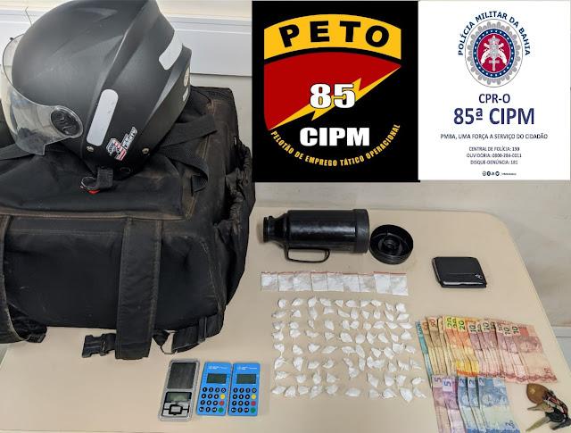 LEM: Guarnição do PETO da 85ª CIPM prende indivíduos por tráfico de drogas
