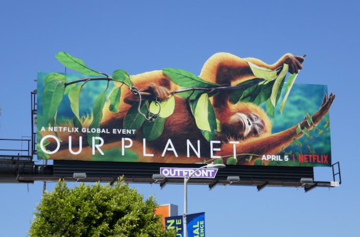 Orangutan Our Planet billboard