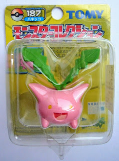 Hoppip Pokemon figure Tomy Monster Collection yellow package series