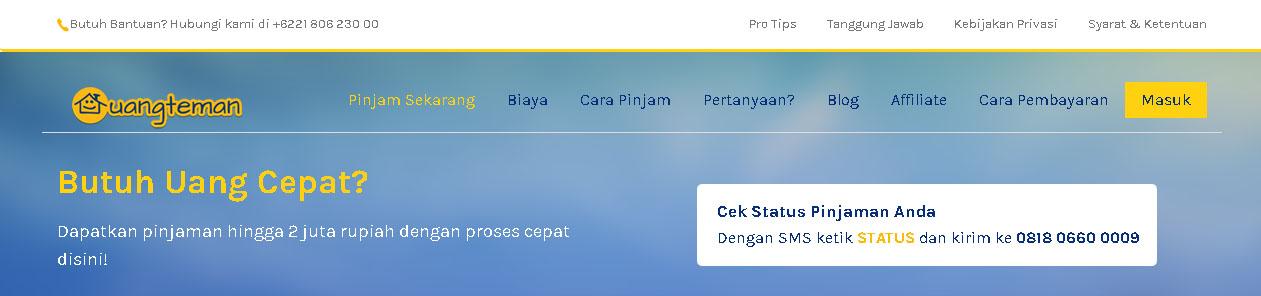 Website Uangteman.com