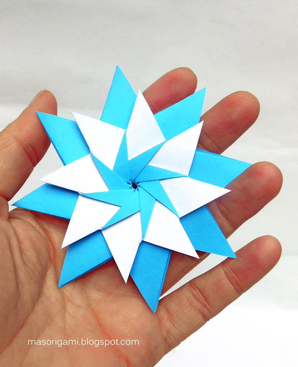 Mas origami escarapelas argentinas de origami 2017 - Origami de una estrella ...