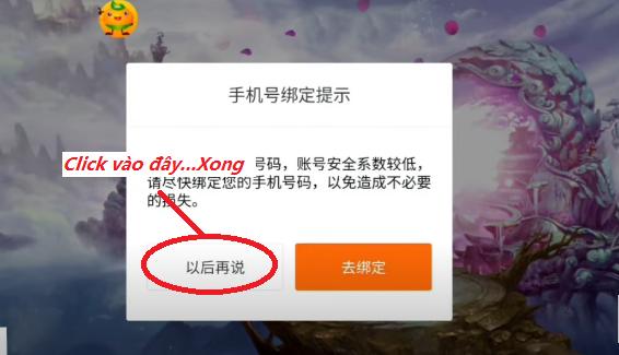 Hướng dẫn tạo tài khoản game china