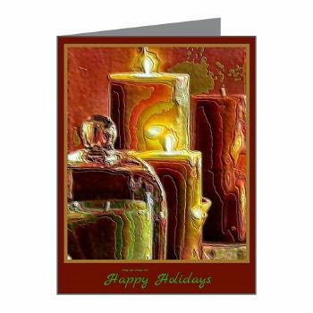 Happy Holidays Holiday Light Note Cards (10)