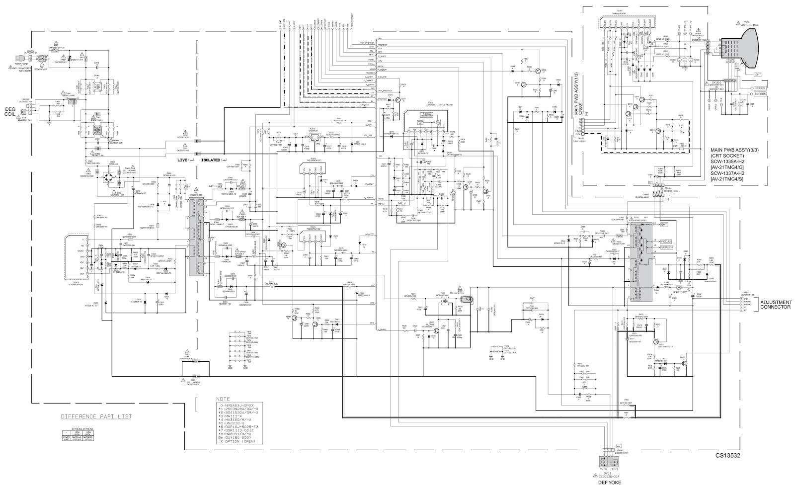 onida tv pcb diagram