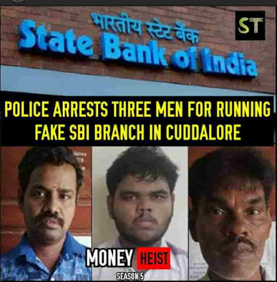 Fake bank branch in india