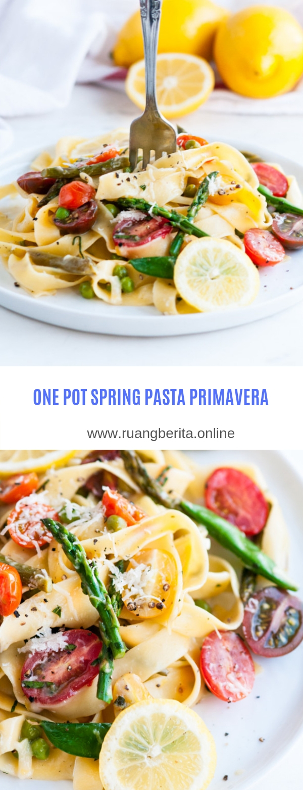 ONE POT SPRING PASTA PRIMAVERA