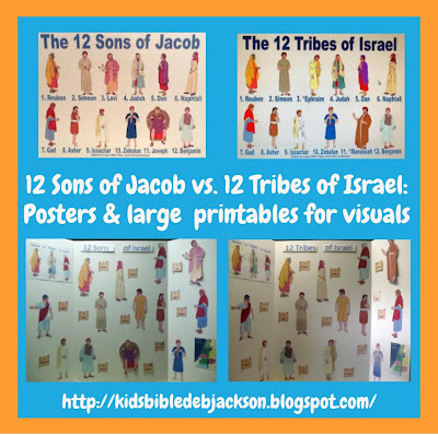 http://www.biblefunforkids.com/2012/08/the-12-sons-of-jacob-vs-12-tribes-of.html