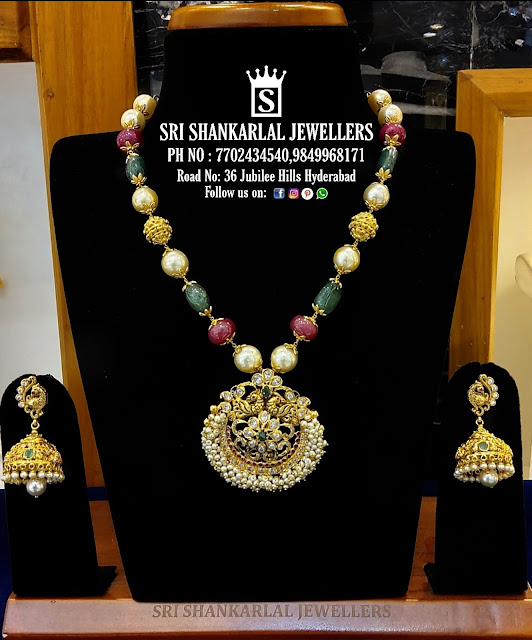 Beads Necklace by Shankarlal Jewellers