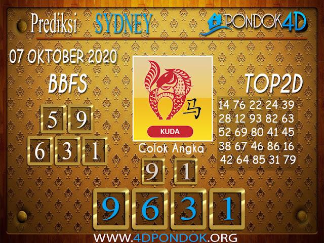 Prediksi Togel SYDNEY PONDOK4D 07 OKTOBER 2020