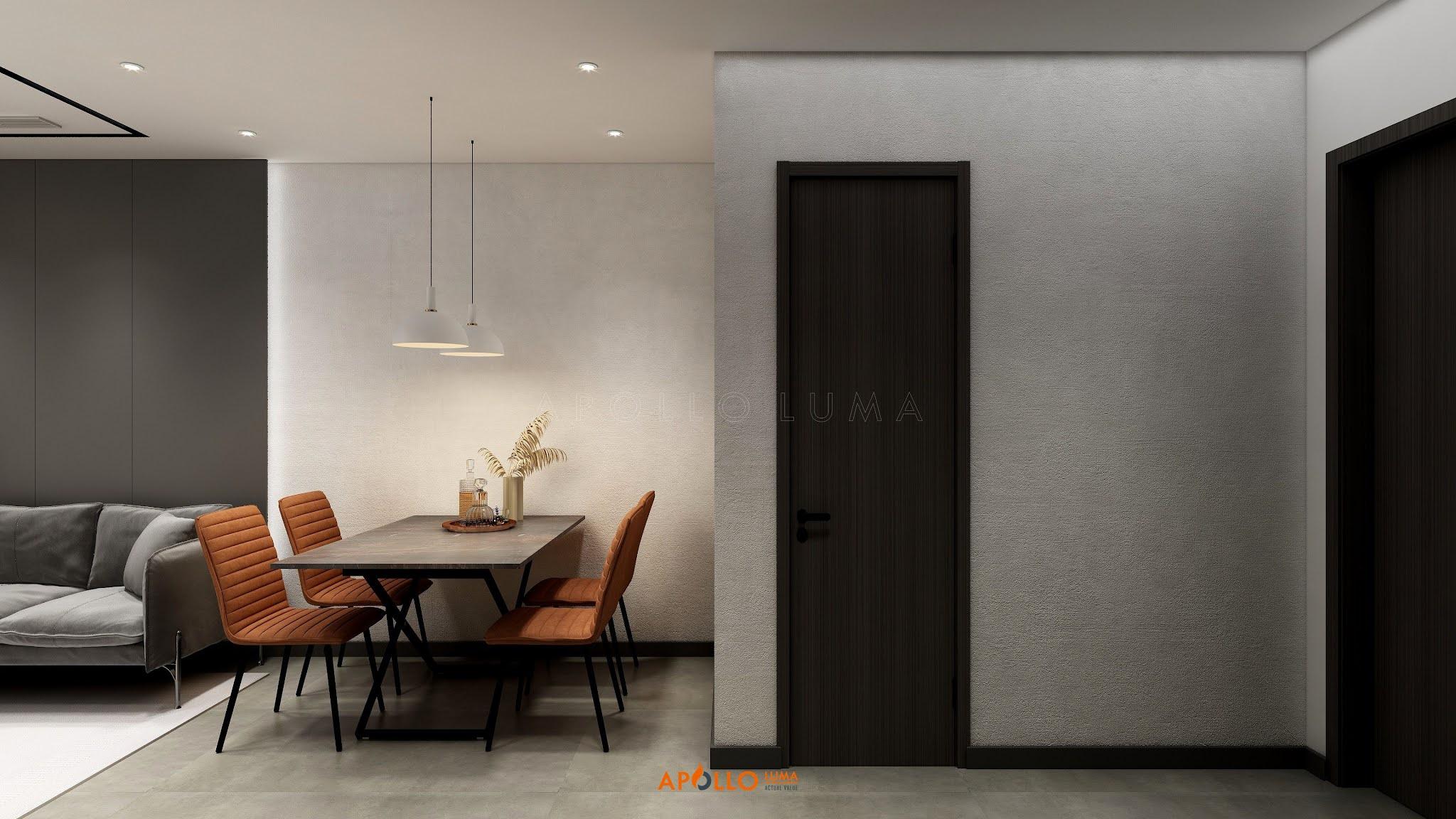 Thiết kế nội thất căn hộ 2PN (56.8m2) Phương Đông Green Park