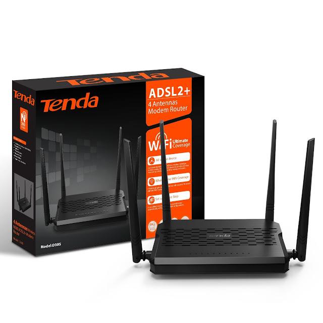 Routeur Tenda (D305) Modem Routeur 4 Antennes   Meilleur Prix Maroc  