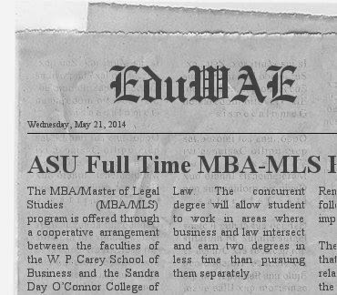 ASU Full Time MBA-MLS Program