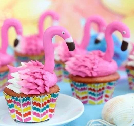 FLAMINGO CUPCAKES #desserts #summerrecipe
