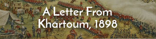 Link to letter from Heywood soldier at Khartoum