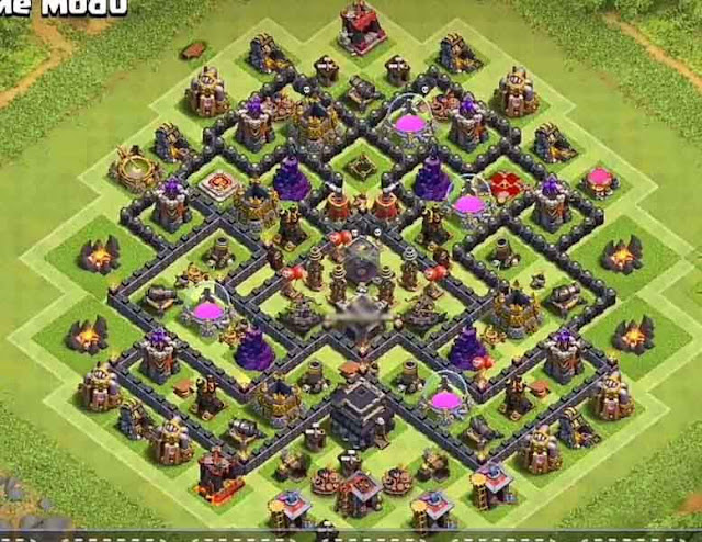 Base COC TH9 Farming 26