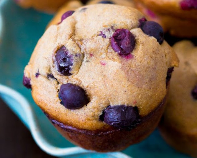 Low Carb Banana Blueberry Muffins #breakfast #keto