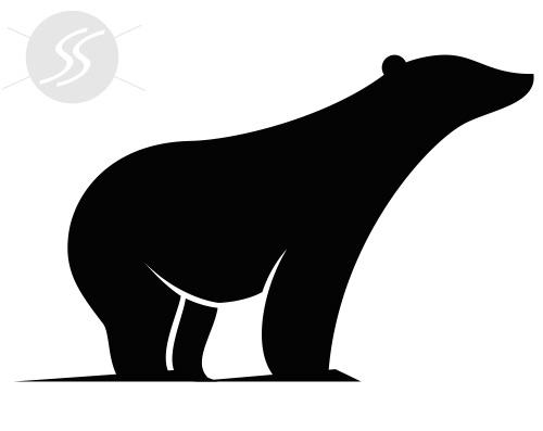 adesivos decorativos animais urso polar - 20 Adesivos decorativos de animais para decorar o seu ambiente
