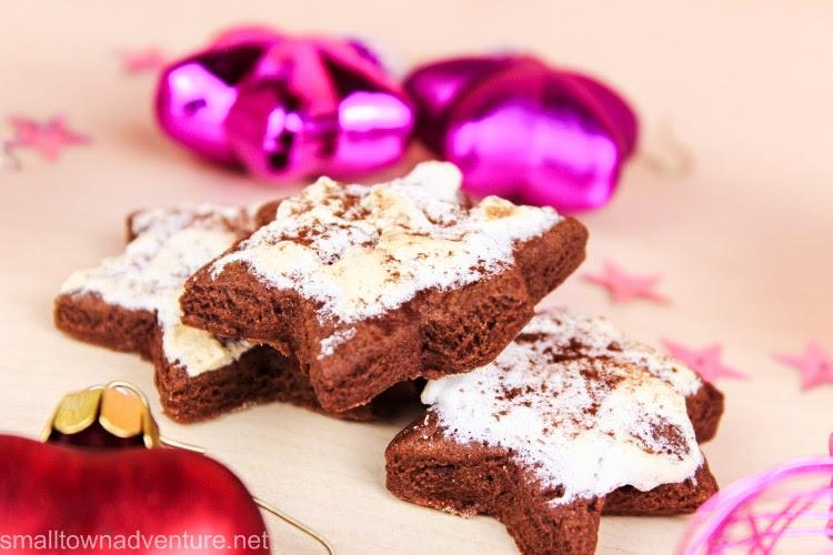 Cappuccino-Sterne mit Baiserhaube, Weihnachtsbäckerei, Weihnachtsplätzchen, Weihnachten, Plätzchenrezept
