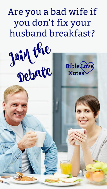 """Just for fun, let's debate this issue that used to be a major sign of a """"good wife."""" And let's apply some biblical perspective to it."""