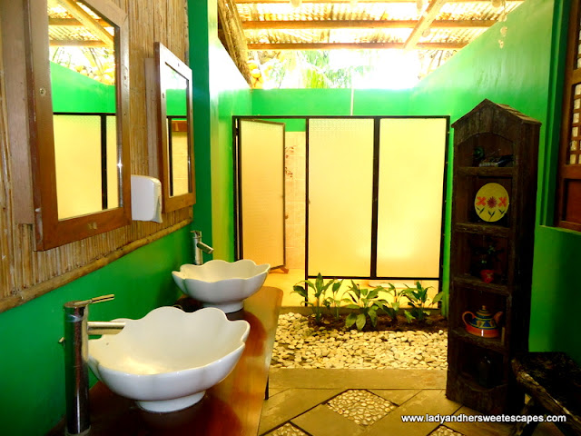 Inside the wash room at Rafael's Farm Leyte