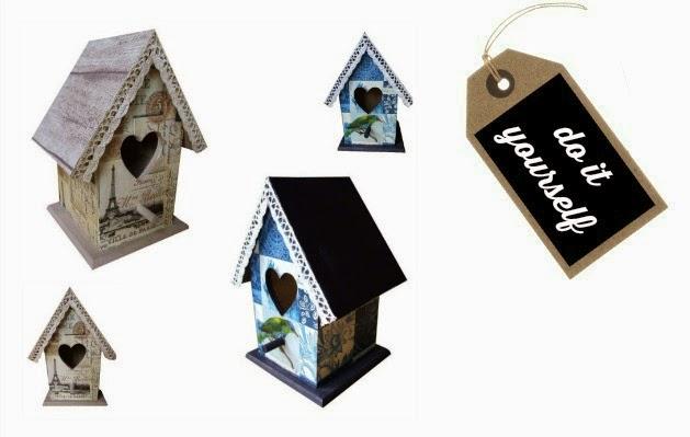 Zelf maken: vogelhuisje met servet en stof