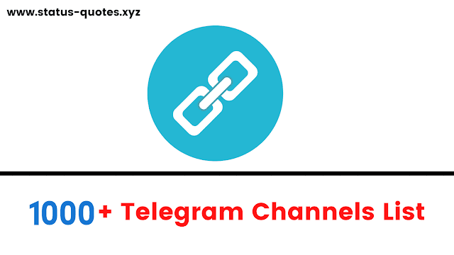 Telegram Channels list : Join 1K+ Telegram Channels in 2021