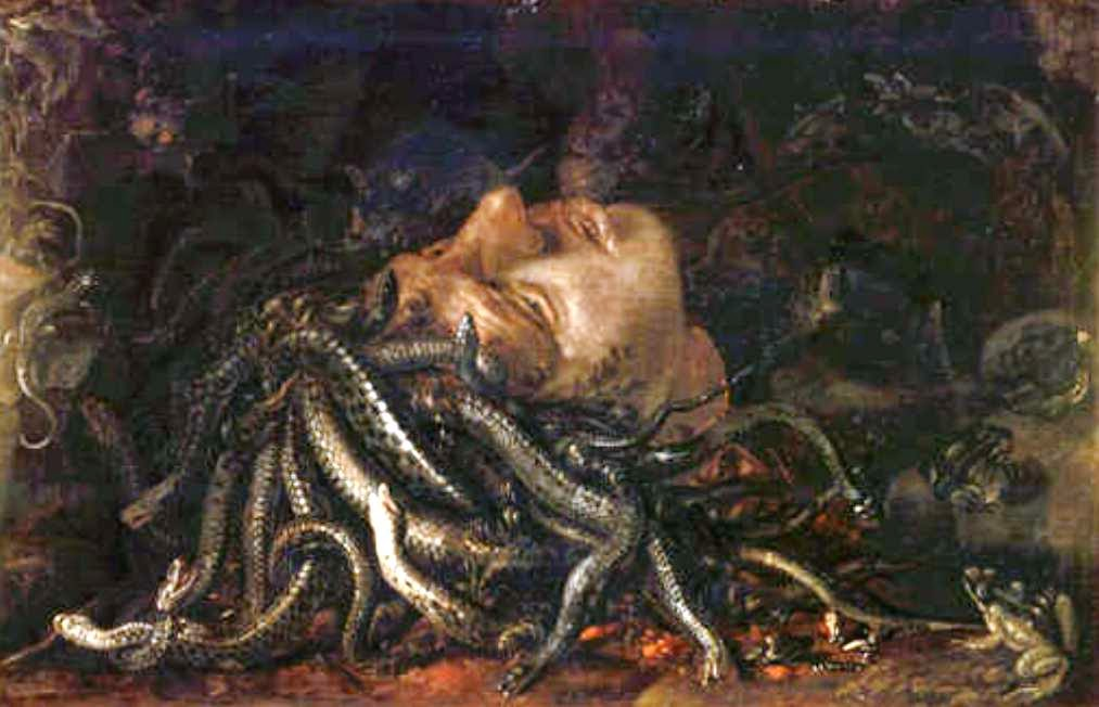Medusa, Macabre Art, Macabre Paintings, Horror Paintings, Freak Art, Freak Paintings, Horror Picture, Terror Pictures