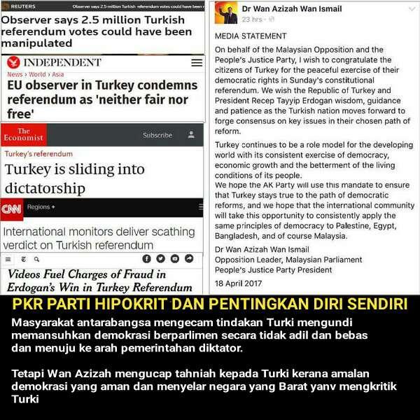 PKR adalah parti hipokrit dan mementingkan diri sendiri