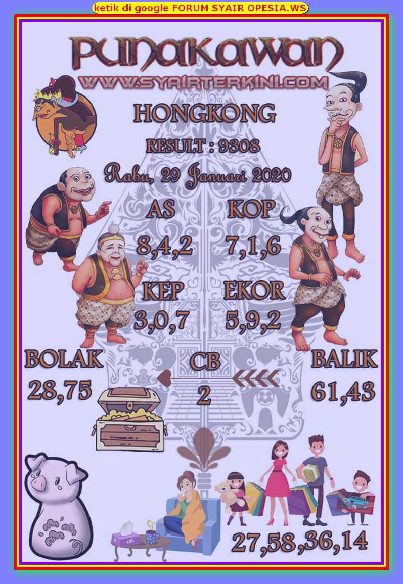 Kode syair Hongkong Rabu 29 Januari 2020 103