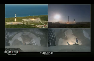 SpaceX Falcon Heavy side boosters landing