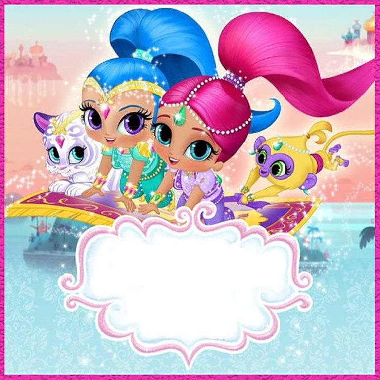 shimmer and shine party free printable