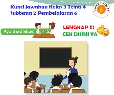 Kunci Jawaban Kelas 3 Tema 4 Subtema 2 Pembelajaran 6 www.simplenews.me