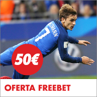 Circus freebet 50 euros Francia vs Inglaterra 12-13 junio