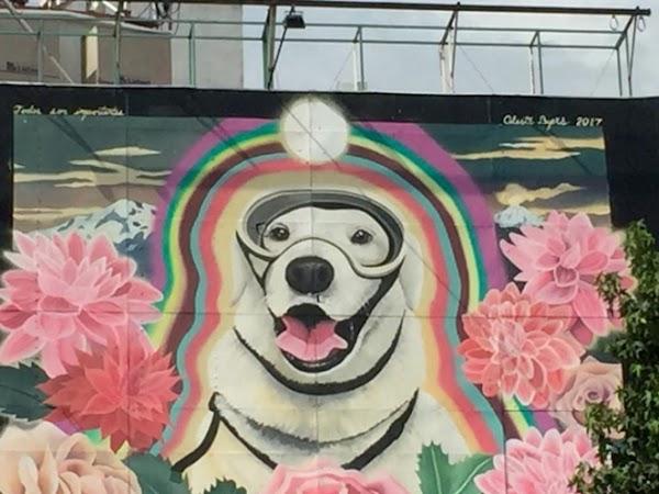 Dedican mural a 'Frida' en la Fuente de Cibeles de la CDMX