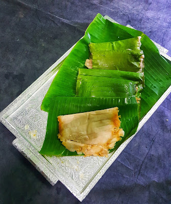 how to,make ,Ela Ada, Recipe,Steamed Rice ,Pancakes ,With Coconut , Jaggery Filling,green, jackfruit ,flour,kerala ,