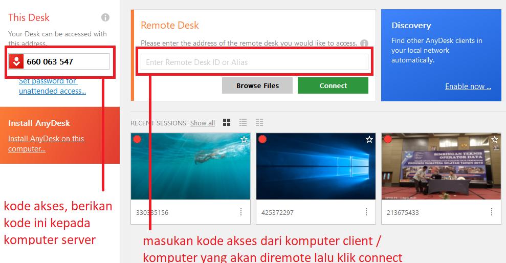 cara remote komputer client dengan anydesk - sahretech